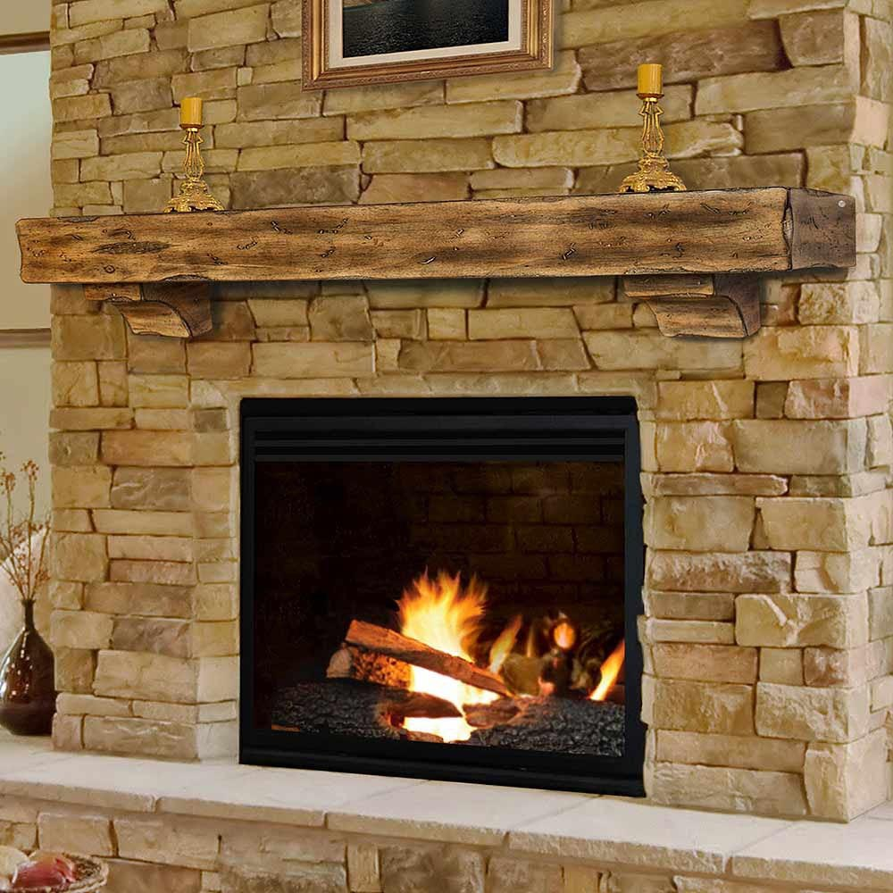 Wood Fireplace Mantel Shelves