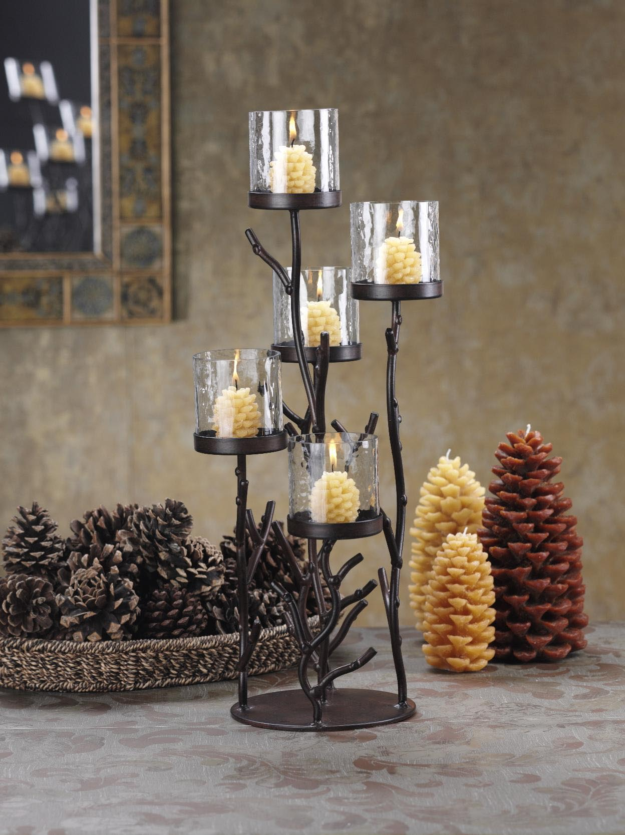 Iron Candle Stand Designs : Wrought iron candle holders for fireplace designs